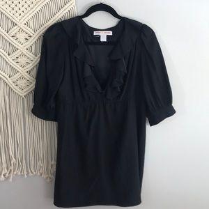 AMANDA UPRICHARD Ruffle front silk tunic/dress M